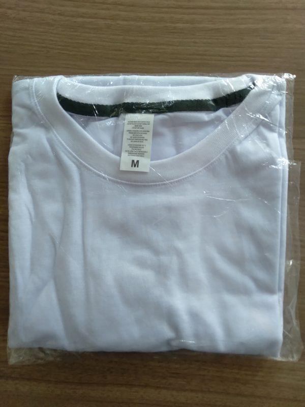 polo blanco polyester tacto algodón